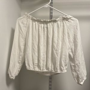 Brandy Melville off the shoulder white top